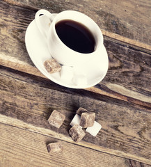 Image of coffee cup and sugar