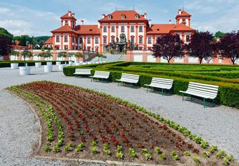 Troja Palace summer view (Prague, Czech)