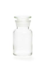 Apothekerflasche aus klarem Glas