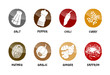 spices buttons vector