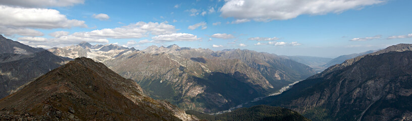 Mountain Dombai, Panorama shooting, The Caucasus, Russia