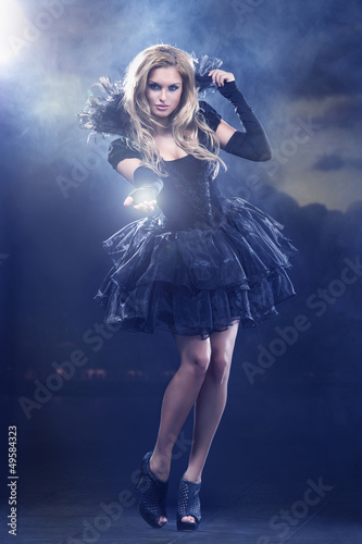 Magical young woman as  fairy