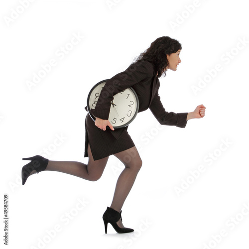 femme d'affaires pressée