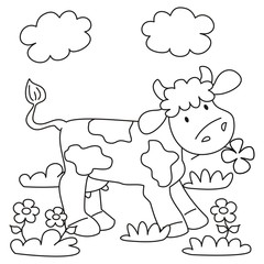 cow - coloring