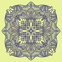 Vector square decorative design element