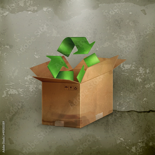 Recycle icon, old-style