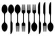 creative cutlery silhouette