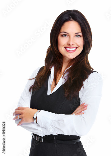 Beautiful young business woman.