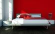 Modernes Schlafzimmer rot