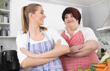 Queens of the kitchen - zwei Frauen in der Küche