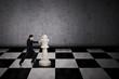 Businessman strategic move