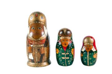 Antique matrioshka dolls