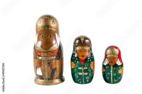 Antique matrioshka dolls
