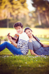 summer romance with guitar