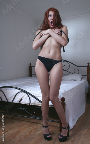 woman in bedroom wear lingerie