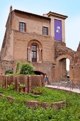Tempio di Apollo in palatine hill at Rome - Italy