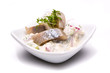 Matjessalat in kleiner Schale