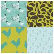 Set of Vintage Rooster Backgrounds - for design and scrapbook -