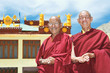 Two Indian tibetan monk lama