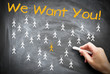 We want You Wir suchen Dich
