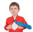 Brave Super Hero Boy Child with Open Shirt