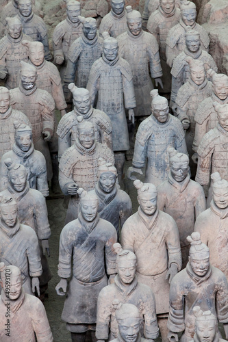 Terracotta warriors in detail