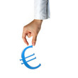 Hand and Euro sign business concept