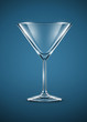 glass goblet for martini cocktails vector illustration EPS10.