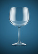 glass goblet for wine vector illustration EPS10. Transparent