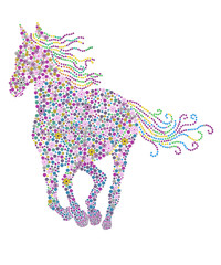 flowers horse