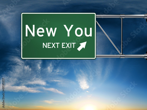 New you next exit, sign depicting a new change in life
