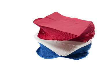 Colorful twisted party napkins.