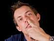 adult male nose picking