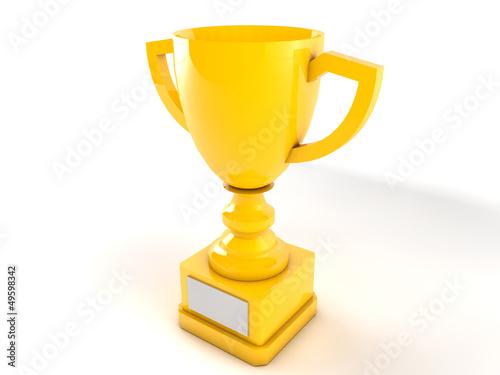 Foto op Canvas Gold Trophy