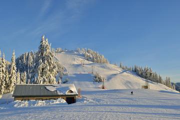 Grouse Mountain Ski Resort at sunrise