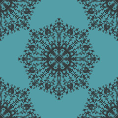 Seamless ornamental background. Damask design