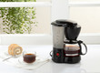 Enjoy your breakfast with coffee maker and boiler machine