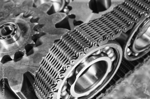 gears, cogs and timing chain