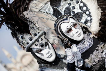 Couple of carnival Masks in Venice, Italy