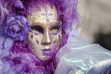 Purple Carnival Mask in Venice, Italy