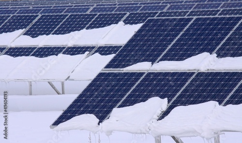 solar panels in winter - 49604193