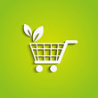 Green shopping icon