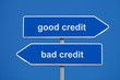 Good Bad Credit Signpost