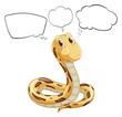 A snake thinking