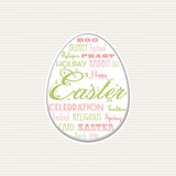 easter egg typographical background poster