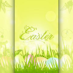 easter panel background with decorative text