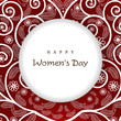 Greeting card or background for Happy Women's Day.