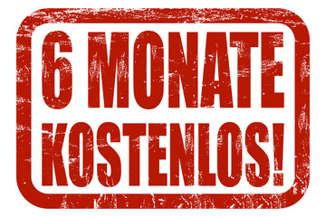 Grunge Stempel rot 6 MONATE KOSTENLOS