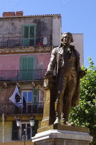 La statue de Pascal Paoli à Corte