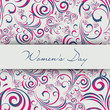 Beautiful floral decorative greeting card or background for Wome